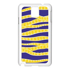 Yellow Tentacles Samsung Galaxy Note 3 N9005 Case (white)