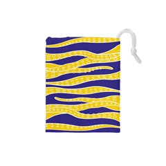 Yellow Tentacles Drawstring Pouches (small)