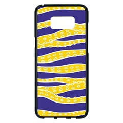 Yellow Tentacles Samsung Galaxy S8 Plus Black Seamless Case