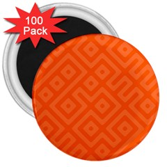 Seamless Pattern Design Tiling 3  Magnets (100 Pack)