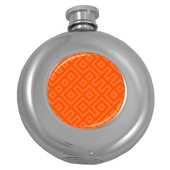 Seamless Pattern Design Tiling Round Hip Flask (5 Oz)