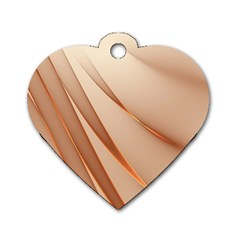 Background Light Glow Abstract Art Dog Tag Heart (one Side)