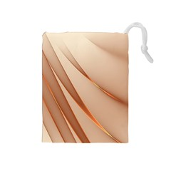 Background Light Glow Abstract Art Drawstring Pouches (medium)