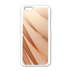 Background Light Glow Abstract Art Apple Iphone 6/6s White Enamel Case