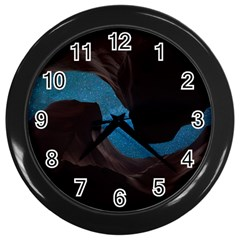 Abstract Adult Art Blur Color Wall Clocks (black)