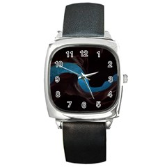 Abstract Adult Art Blur Color Square Metal Watch