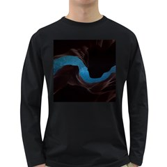Abstract Adult Art Blur Color Long Sleeve Dark T Shirts