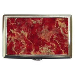 Marble Red Yellow Background Cigarette Money Cases