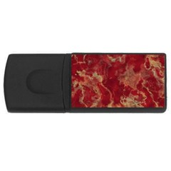 Marble Red Yellow Background Rectangular Usb Flash Drive
