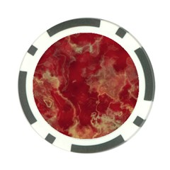 Marble Red Yellow Background Poker Chip Card Guard (10 Pack)