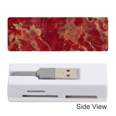 Marble Red Yellow Background Memory Card Reader (stick)