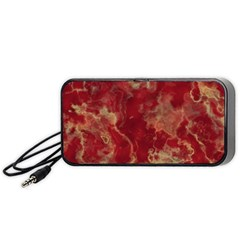Marble Red Yellow Background Portable Speaker
