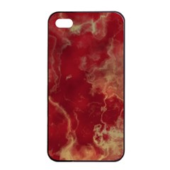 Marble Red Yellow Background Apple Iphone 4/4s Seamless Case (black)