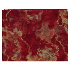 Marble Red Yellow Background Cosmetic Bag (xxxl)