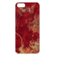 Marble Red Yellow Background Apple Iphone 5 Seamless Case (white)