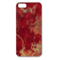 Marble Red Yellow Background Apple Seamless Iphone 5 Case (clear)