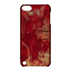 Marble Red Yellow Background Apple Ipod Touch 5 Hardshell Case With Stand