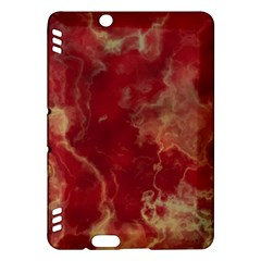 Marble Red Yellow Background Kindle Fire Hdx Hardshell Case