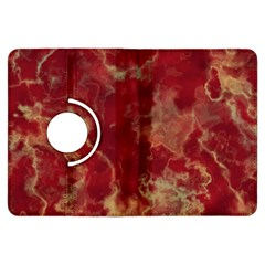 Marble Red Yellow Background Kindle Fire Hdx Flip 360 Case