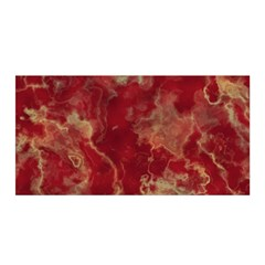 Marble Red Yellow Background Satin Wrap