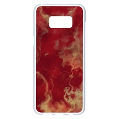 Marble Red Yellow Background Samsung Galaxy S8 Plus White Seamless Case