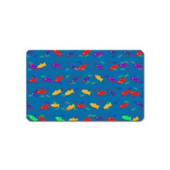 Fish Blue Background Pattern Texture Magnet (name Card)
