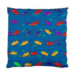 Fish Blue Background Pattern Texture Standard Cushion Case (one Side)