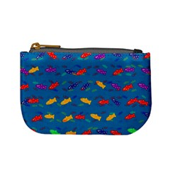 Fish Blue Background Pattern Texture Mini Coin Purses