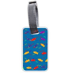 Fish Blue Background Pattern Texture Luggage Tags (one Side)