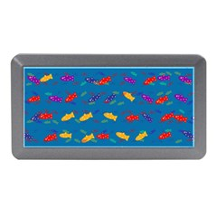 Fish Blue Background Pattern Texture Memory Card Reader (mini)