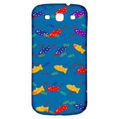 Fish Blue Background Pattern Texture Samsung Galaxy S3 S Iii Classic Hardshell Back Case