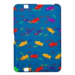 Fish Blue Background Pattern Texture Kindle Fire Hd 8 9
