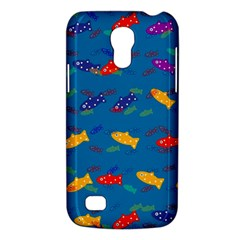 Fish Blue Background Pattern Texture Galaxy S4 Mini
