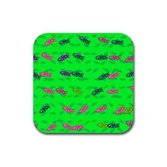 Fish Aquarium Underwater World Rubber Coaster (square)
