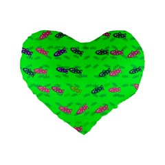 Fish Aquarium Underwater World Standard 16  Premium Flano Heart Shape Cushions