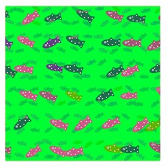 Fish Aquarium Underwater World Large Satin Scarf (square)