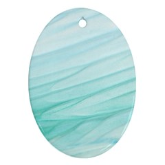 Texture Seawall Ink Wall Painting Ornament (oval)