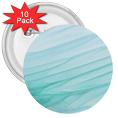 Texture Seawall Ink Wall Painting 3  Buttons (10 Pack)