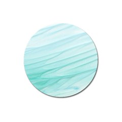 Texture Seawall Ink Wall Painting Magnet 3  (round)