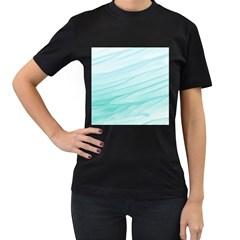 Texture Seawall Ink Wall Painting Women s T Shirt (black) (two Sided)