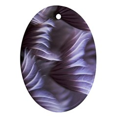 Sea Worm Under Water Abstract Ornament (oval)
