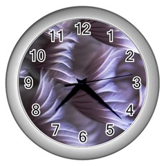 Sea Worm Under Water Abstract Wall Clocks (silver)