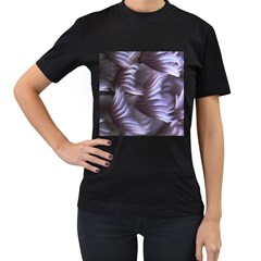 Sea Worm Under Water Abstract Women s T Shirt (black) (two Sided)