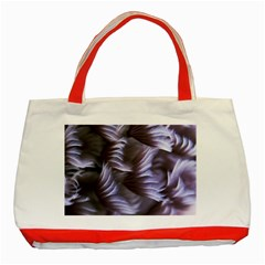 Sea Worm Under Water Abstract Classic Tote Bag (red)