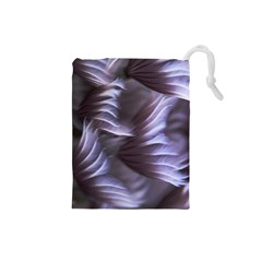 Sea Worm Under Water Abstract Drawstring Pouches (small)