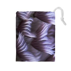 Sea Worm Under Water Abstract Drawstring Pouches (large)