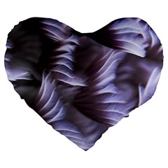 Sea Worm Under Water Abstract Large 19  Premium Flano Heart Shape Cushions