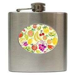 Seamless Pattern Desktop Decoration Hip Flask (6 Oz)