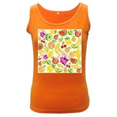 Seamless Pattern Desktop Decoration Women s Dark Tank Top