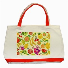 Seamless Pattern Desktop Decoration Classic Tote Bag (red)